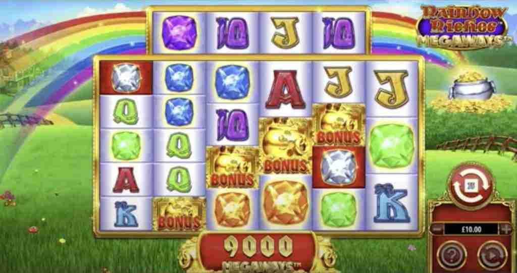 Rainbow Riches Megaways Slot Win
