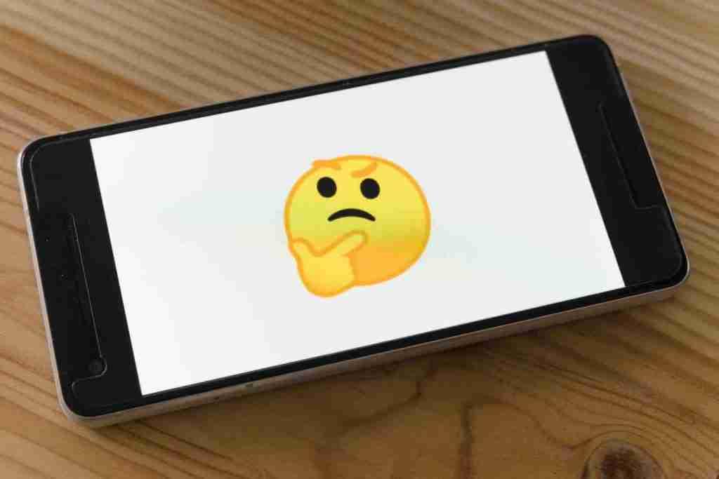 Mobile Phone Think Emoji
