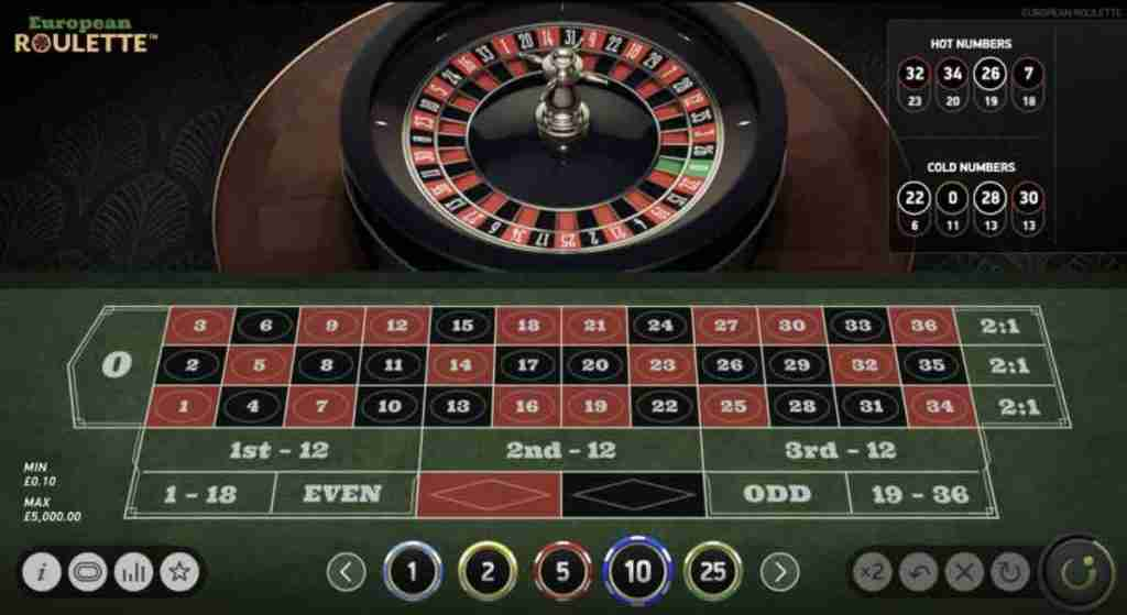 European Online Roulette Table and Wheel
